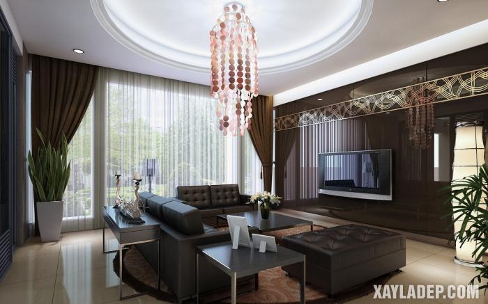 , 64 Mẫu trần thạch cao đẹp phòng khách mới nhất 2019, Nhà đẹp