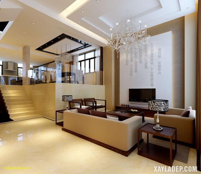 Hình 8: Mẫu trần thạch cao phòng khách biệt thự