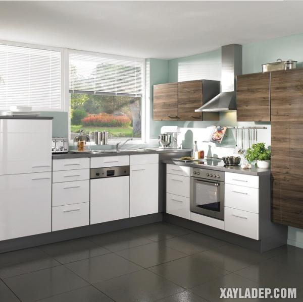 Tủ bếp acrylic và laminate vẫn là sự lựa chọn hàng đầu