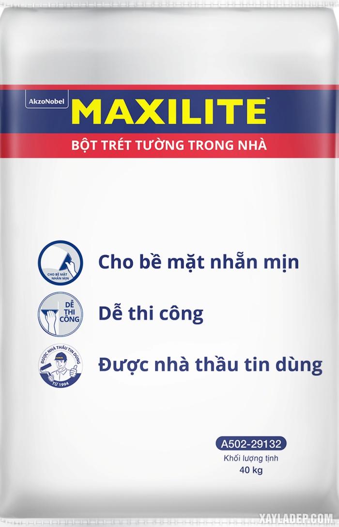 Hình ảnh bao bì bột trét tường Maxilite