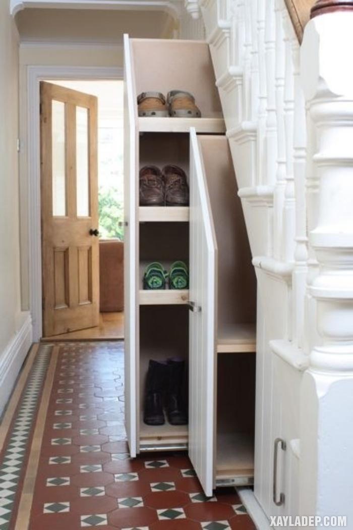 , 10 Ý tưởng trang trí gầm cầu thang phòng khách hợp phong thủy, Nhà đẹp
