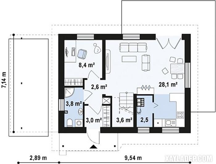 , 5 Mẫu nhà cấp 4 diện tích 80m2 đẹp nhất hiện nay, Nhà đẹp
