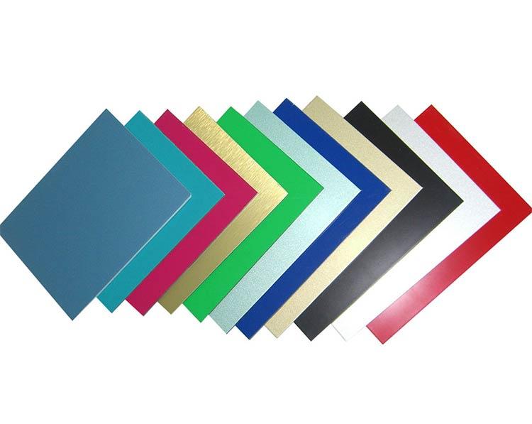 Hình ảnh tấm alu và màu sắc phổ biến