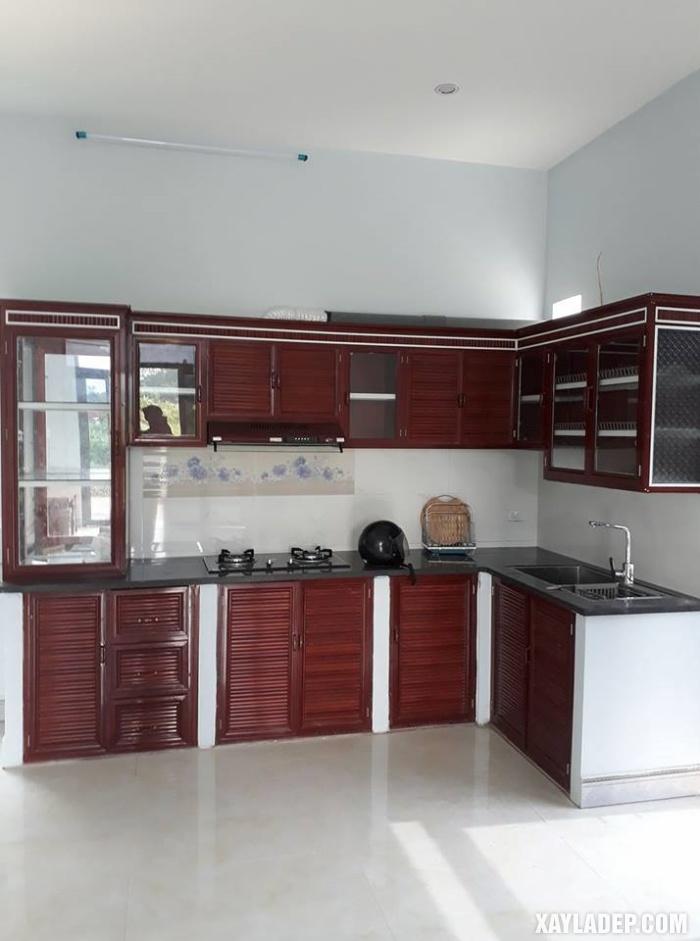 Hình 10: tủ bếp nhôm kính Hà Nội