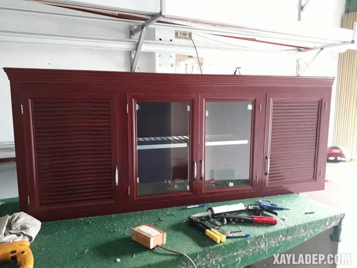 Hình 11: tủ bếp nhôm kính bán sẵn
