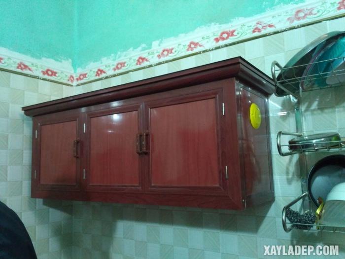 Hình 13: tủ bếp nhôm kính Việt Pháp