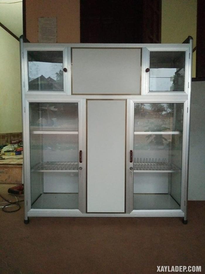 Hình 14: tủ bếp nhôm kính đứng
