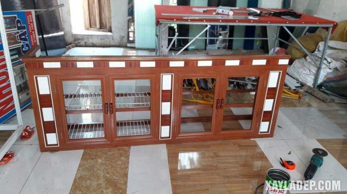 Hình 2: tủ bếp nhôm kính đẹp