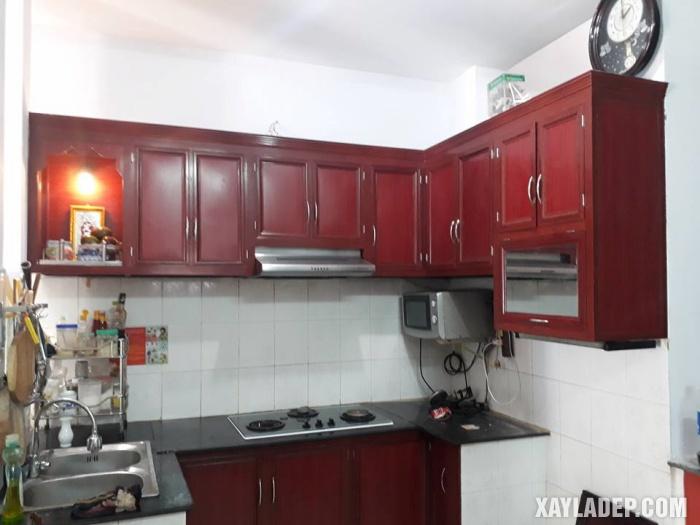 Hình 5: tủ bếp nhôm kính cao cấp