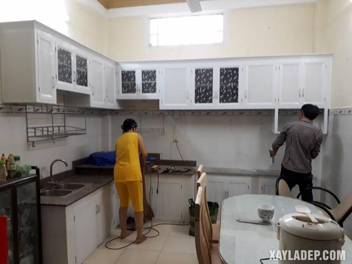 Hình 7: tủ bếp nhôm kính hcm