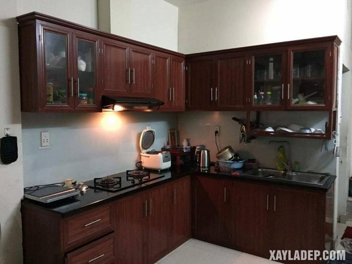 Hình 8: tủ bếp nhôm kính treo tường