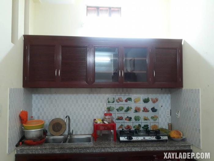 Hình 9: mẫu tủ bếp nhôm kính đẹp