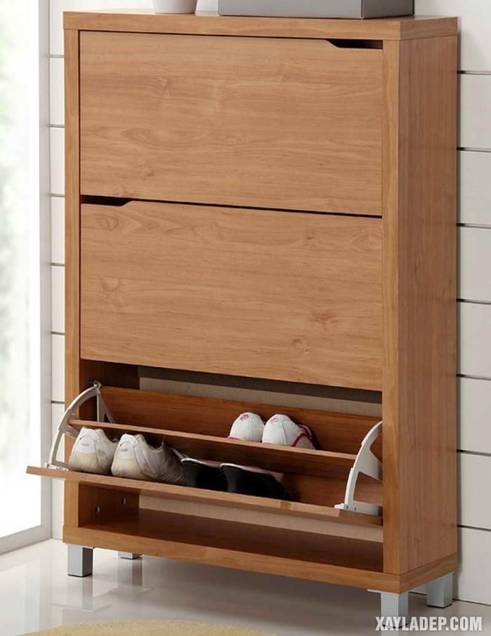 , 30 Mẫu tủ giầy đẹp hiện đại bằng gỗ tự nhiên, gỗ công nghiệp, Nhà đẹp, Nhà đẹp