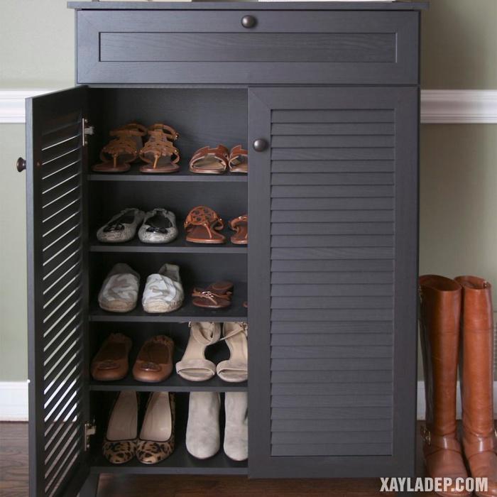 Hình 4: tủ giày gỗ hiện đại
