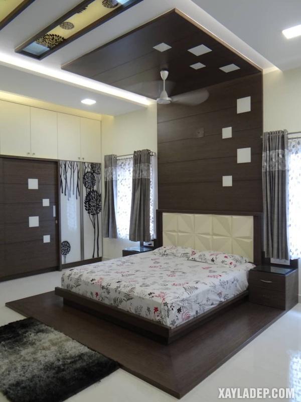 Mẫu trần thạch cao phòng ngủ đẹp 2020 -Mẫu 1