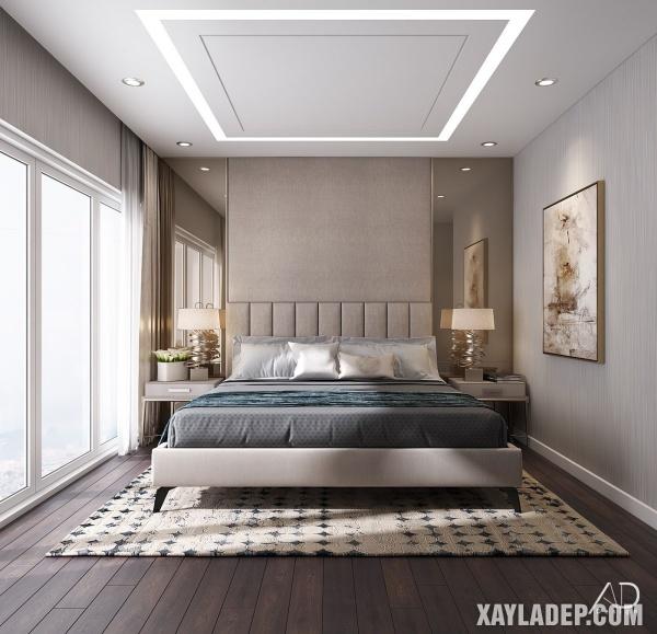 Mẫu trần thạch cao phòng ngủ đẹp 2020 -Mẫu 11