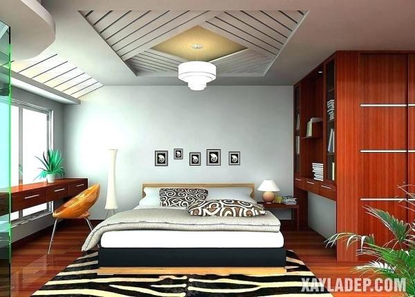 Mẫu trần thạch cao phòng ngủ đẹp 2020 -Mẫu 17