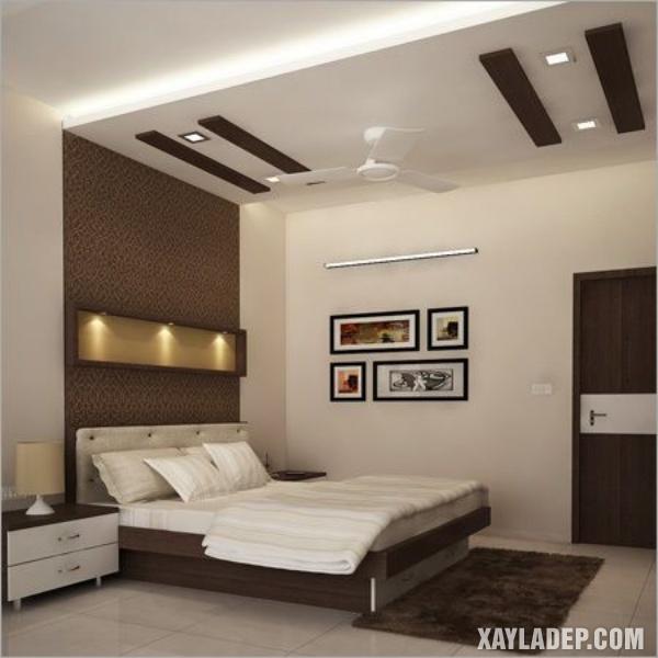 Mẫu trần thạch cao phòng ngủ đẹp 2020 -Mẫu 2