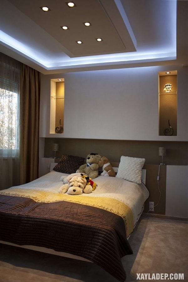Mẫu trần thạch cao phòng ngủ đẹp 2020 -Mẫu 3