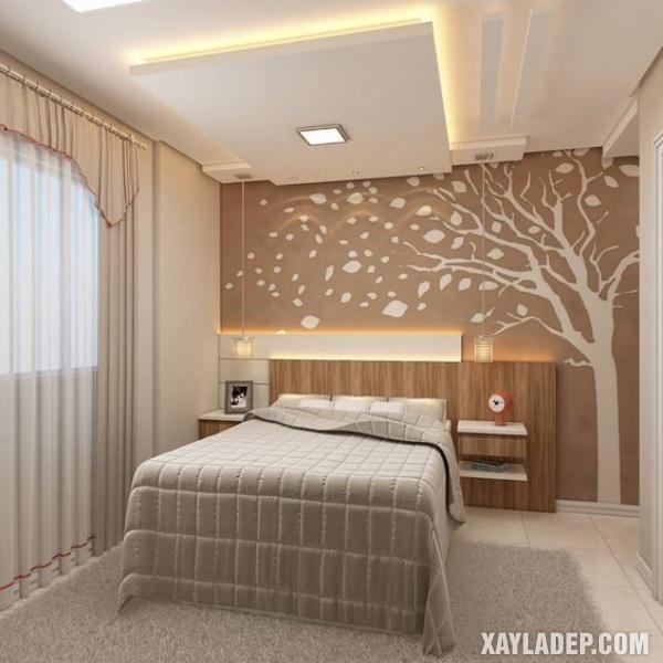 Mẫu trần thạch cao phòng ngủ đẹp 2020 -Mẫu 4