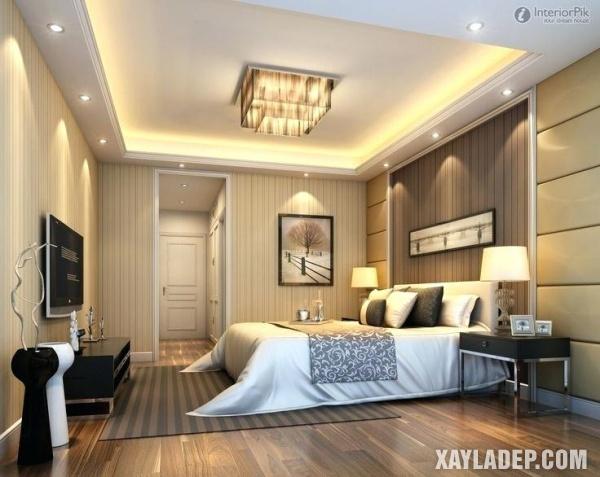 Mẫu trần thạch cao phòng ngủ đẹp 2020 -Mẫu 5