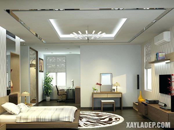 Mẫu trần thạch cao phòng ngủ đẹp 2020 -Mẫu 6