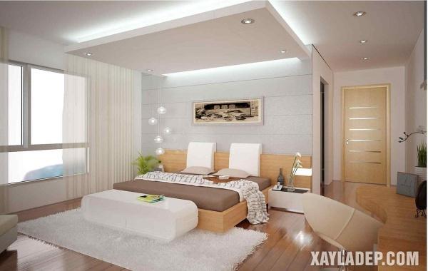 Mẫu trần thạch cao phòng ngủ đẹp 2020 -Mẫu 7