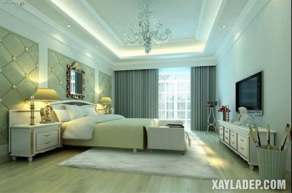 Mẫu trần thạch cao phòng ngủ đẹp 2020 -Mẫu 8