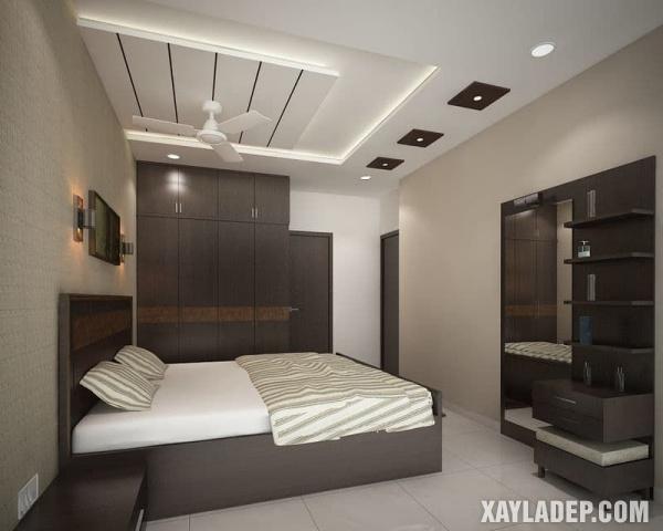 Mẫu trần thạch cao phòng ngủ đẹp 2020 -Mẫu 9