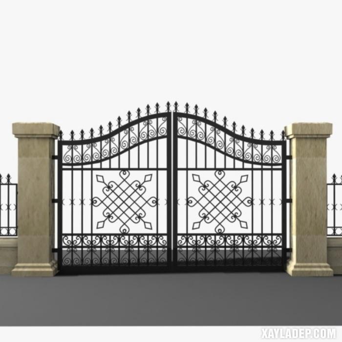 Mẫu cột cổng nhà đẹp