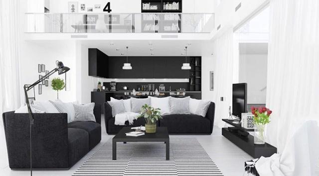 màu sơn phòng khách đẹp chú ý đến ánh sáng