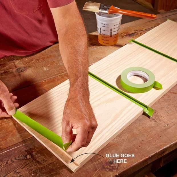 Tránh để keo dính vào bề mặt sản phẩm