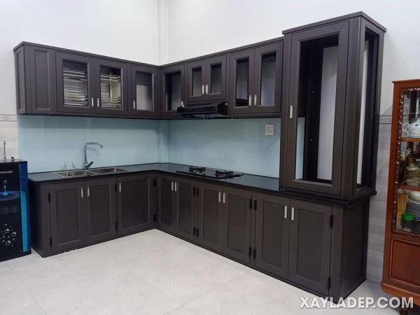 Mẫu tủ bếp nhôm kính nội thất cao cấp Omega