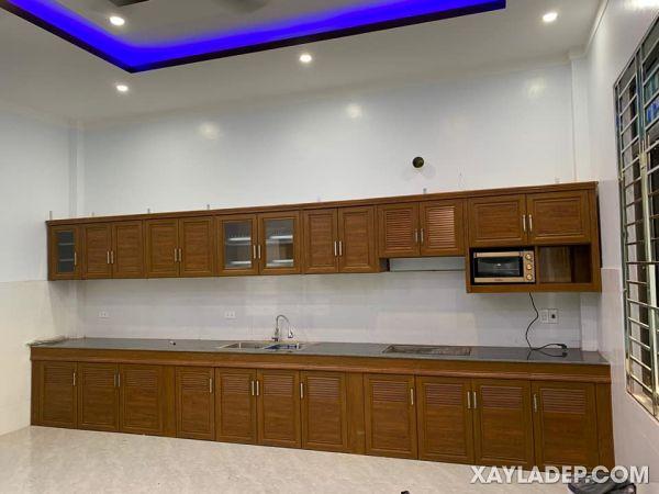 Mẫu tủ bếp nhôm Omega nội thất