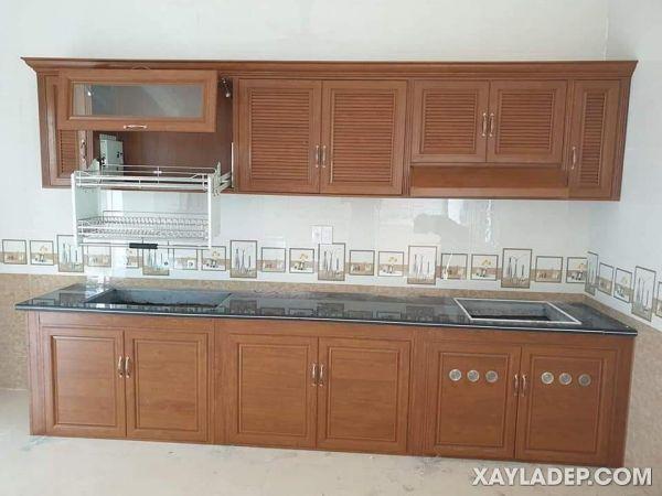 Mẫu tủ bếp nhôm kính xingfa 2021