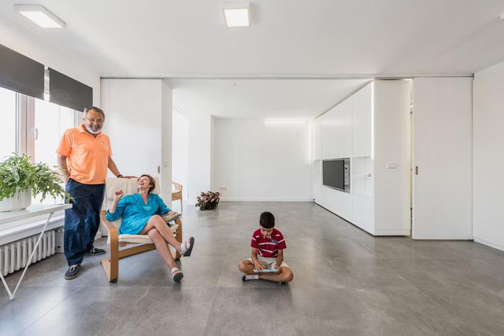Không gian sống trở nên rộng rãi với đồ nội thất phù hợp