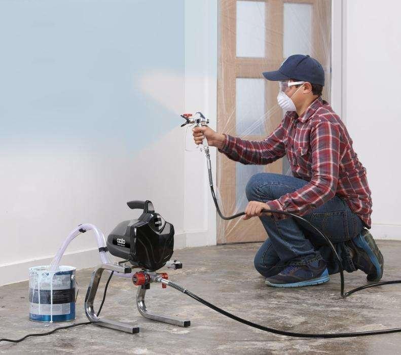 Công việc được đơn giản hóa nhờ máy phun sơn