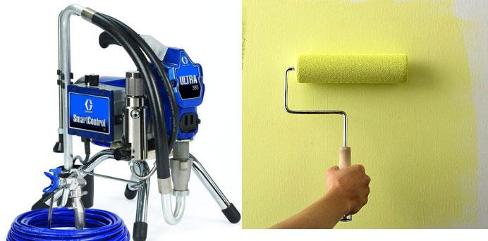 Vì sao nên sử dụng Máy phun sơn thay cho phương pháp thủ công?