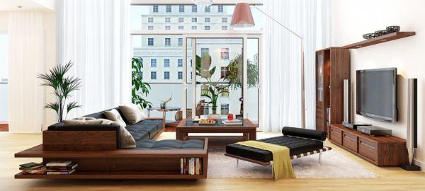 Nội thất bằng gỗ cũng mang đến không gian đẹp, hiện đại