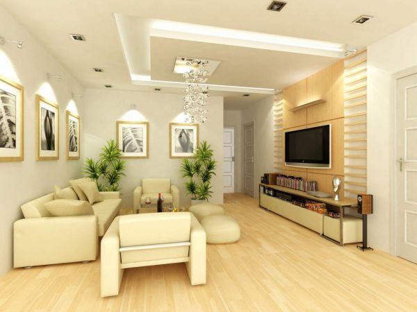 Kiểu thiết kế nội thất phòng khách đẹp hiện đại cho không gian nhỏ
