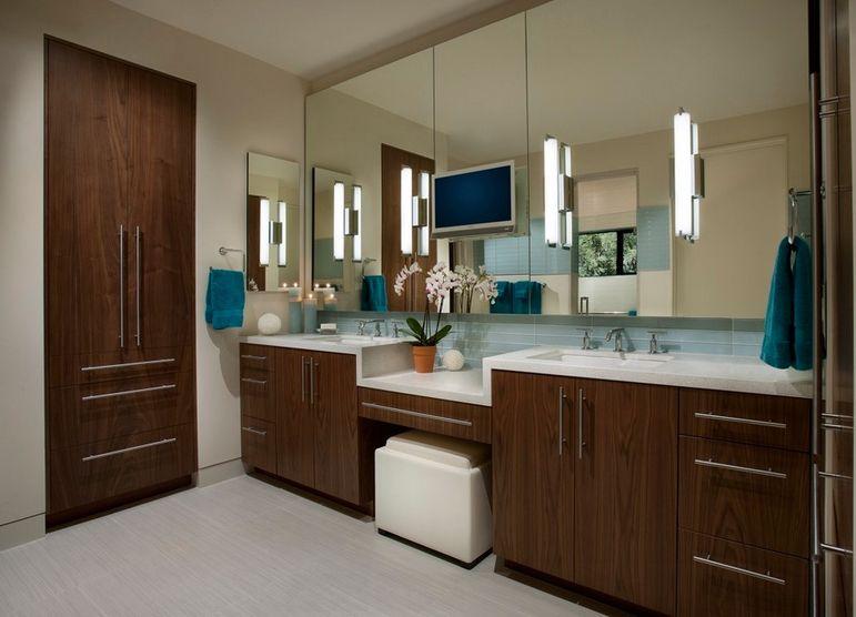 , Các mẫu bàn trang điểm đẹp với gương và bóng đèn chiếu sáng, Nhà đẹp