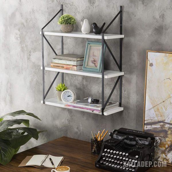 kệ sách treo tường, 42 Mẫu kệ sách treo tường đẹp, đơn giản, hiện đại bằng gỗ 2021, Nhà đẹp