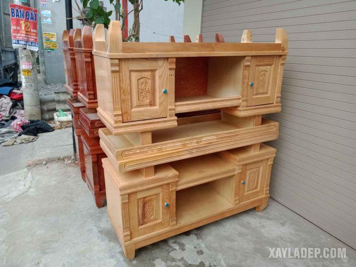 các mẫu kệ tivi đẹp bằng gỗ đơn giản