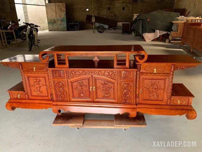 kệ de tivi phòng khách bằng gỗ