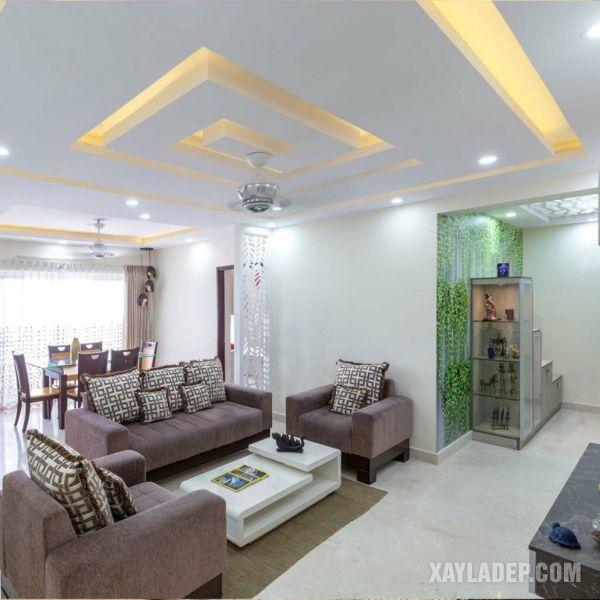 17   mẫu trần thạch cao phòng khách 30m2