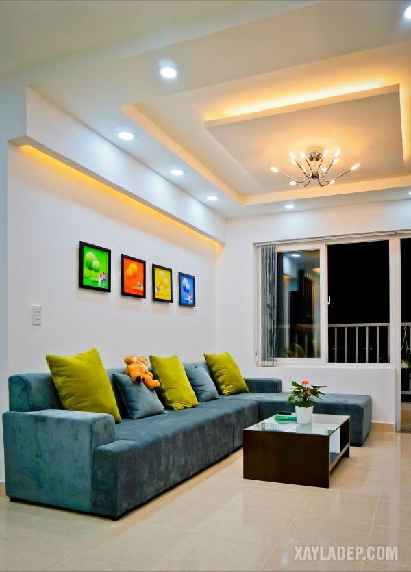 19   Mẫu trần thạch cao phòng khách hiện đại 2021