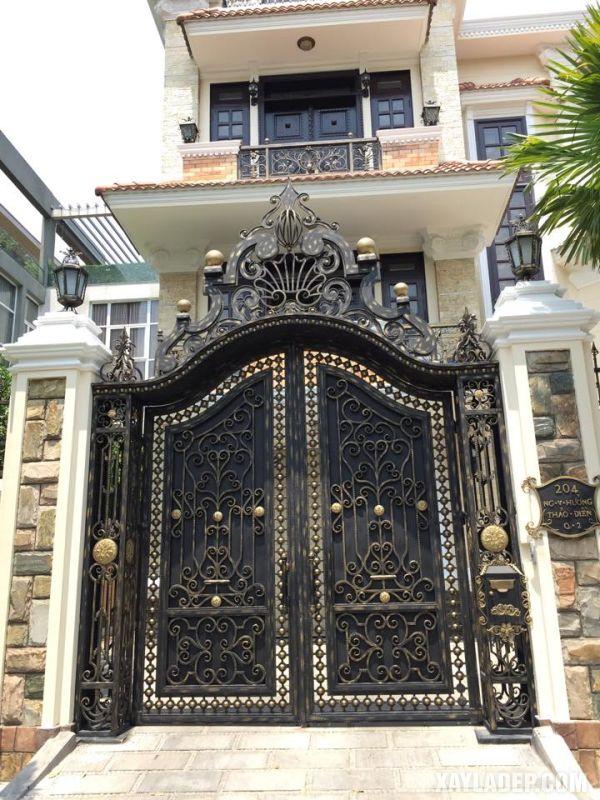 , 30 Mẫu trụ cổng đẹp 2021 uy nghi lộng lẫy cho các căn biệt thự, nhà cấp 4 và hàng rào, Nhà đẹp