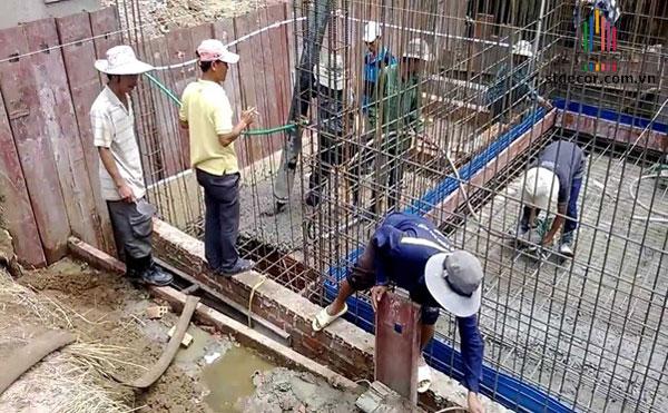 Tay nghề của người thợ ảnh hưởng rất lớn đến chất lượng của phần móng đơn nhà 2 tầng