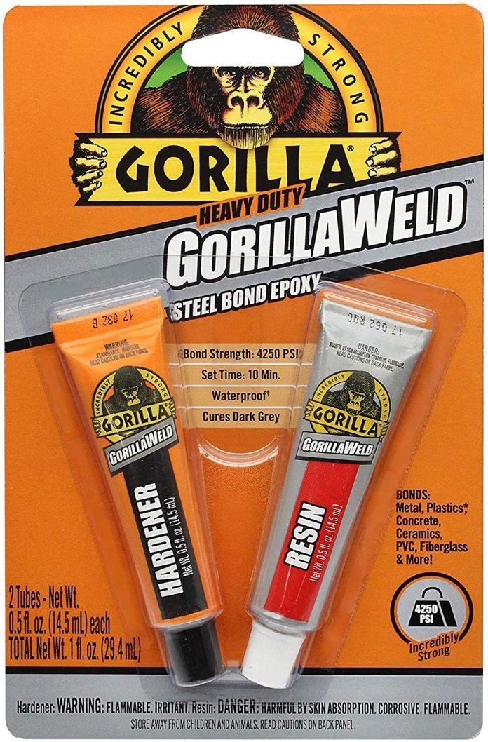 Keo dán sắt Gorilla Heavy Duty GorillaWeld Steel Bond 2-Part Epoxy