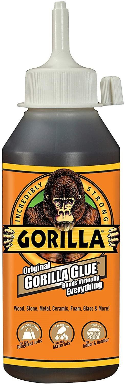 Keo dán sắt Gorilla Original Waterproof Polyurethane Glue, 8 ounce bottle, Brown